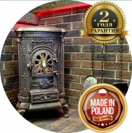 АКЦИЯ!! Печь камин буржуйка Bonro 9 КВт чугунная. Печка для дачи дома