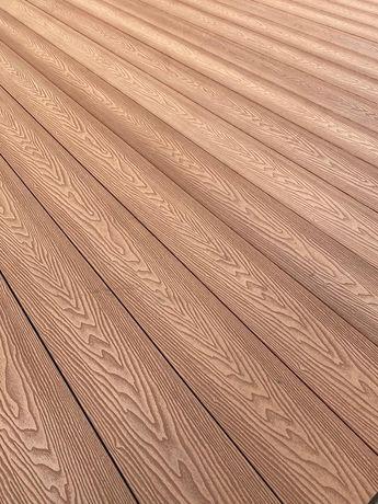 Deska tarasowa kompozytowa imitacja drewna efekt 3D