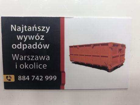 Kontener na gruz NAJTAŃSZY wywóz gruzu odpadów Warszawa i okolice