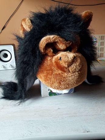 Новогодняя прикольная шапка - шимпанзе. обьем 54 см.