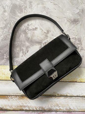 Женская сумка натуральный замш