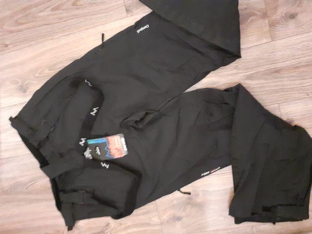 Damskie spodnie czarne campus xl xxl wodoodporne trekkingowe