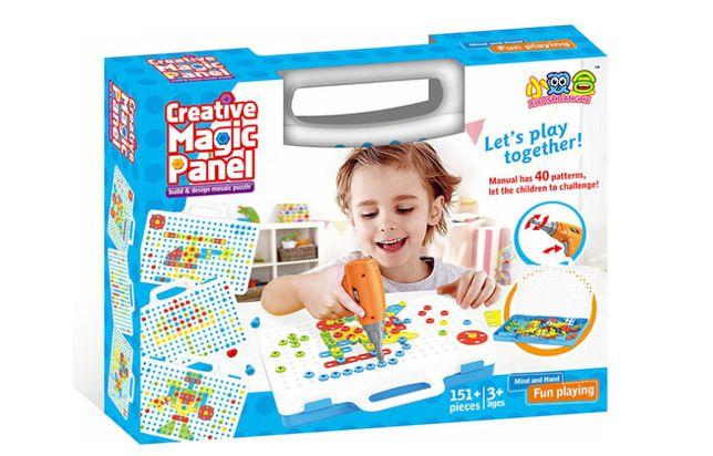 Развивающая Мозаика конструктор с шуруповертом Creative Magic Panel