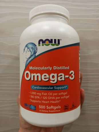 Now Foods омега omega 3 180/120 500 капсул