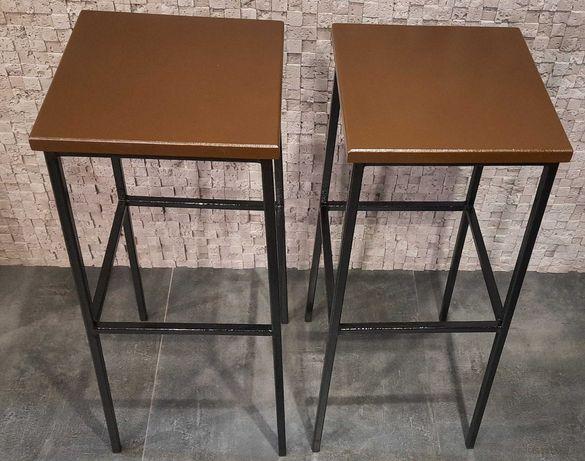 Барные стулья - метал, дерево -ЛОФТ -  плюс столик
