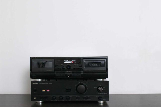 Wzmacniacz, magnetofon kasetowy deck Technics SU-V460 i RS-TR474
