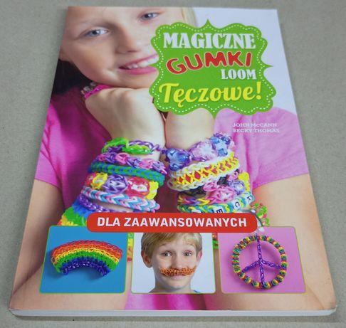 Książka do nauki robótek ręcznych z kolorowych gumek