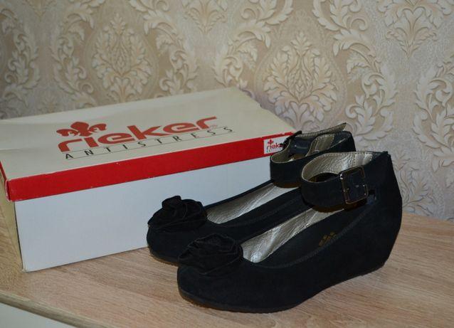 Новые Туфли замшевые 38 размер Rieker