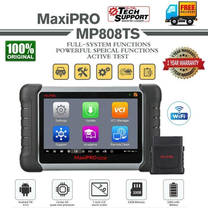 Maq. Diagnostico Auto AUTEL MaxiPRO MP808TS bluetooth Novo