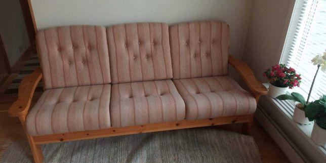 Komplet drewniany wypoczynkowy