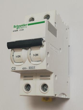 Выключатели автоматические 2-полюсные Schneider Electric C60N 2,3,4,6А