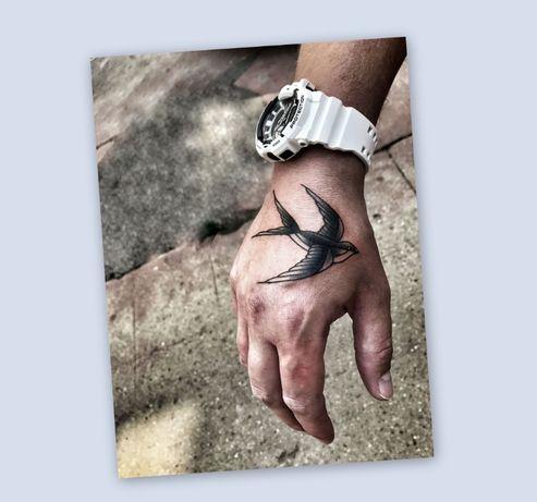 ...Tatuaż tymczasowy / henna / zmywalny /próbny ->Jaskółka /Swallow...