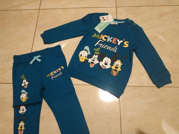 Dres 92 nowy bluza spodnie Mickey's