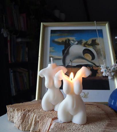 Świeca sojowa kobiece ciało body candle wosk sojowy