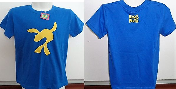 T-shirt manga curta Luccas Neto e Giovanna Neto novas entrega hoje