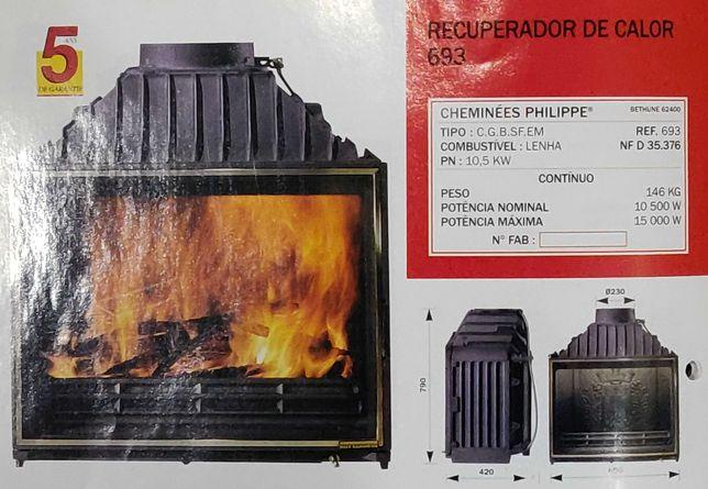"Recuperador de calor ""Cheminées Philippe"" modelo 693 - 10,5 Kw"
