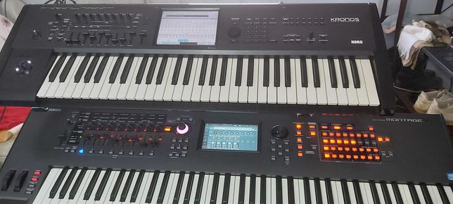 Yamaha Montage 7 e Korg Kronos 61 teclas