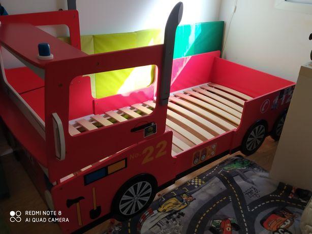 Cama criança carro bombeiros
