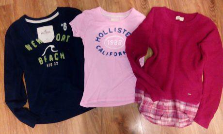 Hollister zestaw xs/s bluza,sweter,koszulka,bluzka