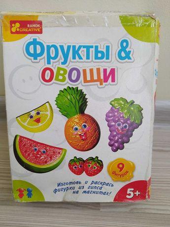 Набор для творчества из гипса - Фрукты и Овощи
