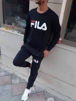 Dres damski i męski z logo Fila czarny M-XL!!!