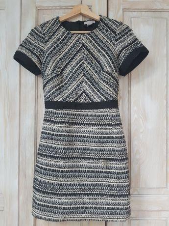 Sukienka h m biała czarna złota stan idealny rozm. 36