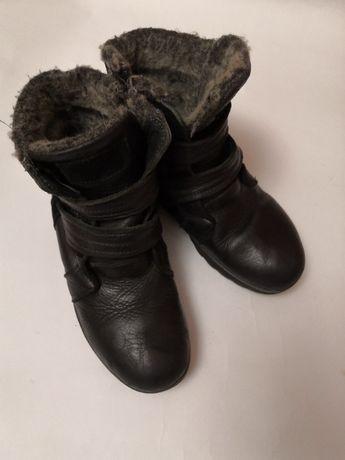 Кожаные зимние сапожки, размер 39
