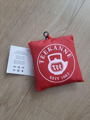 Teekanne torba na zakupy składana w woreczku z klipsem do plecaka Nowa