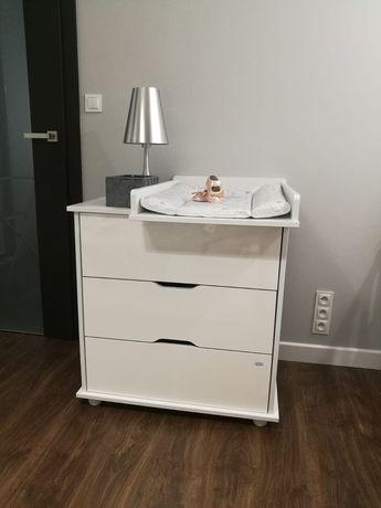 Komoda przewijak przewijakiem z szufladami dziecięca biała niemowlę