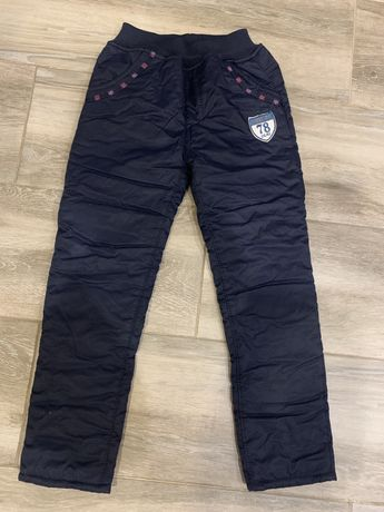 Spodnie ocieplane narciarskie zimowe 116 122 / 128 next smyk