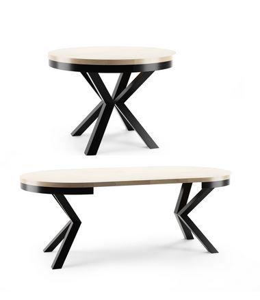 Stół okrągły rozkładany Loft Metal
