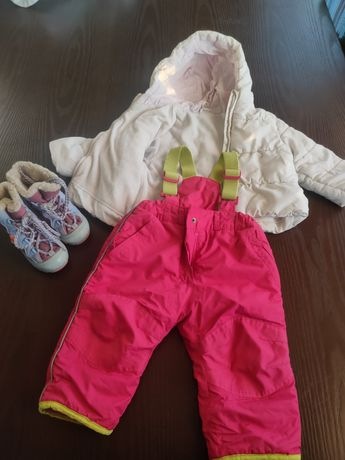 Зимняя курточка,штаны и обувь