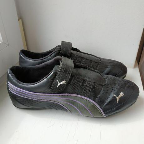 Кожаные мокасины спортивные туфли кроссовки Puma 40р. 26.5 см.