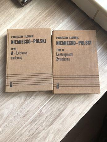 Słowniki nimiecko-polskie I oraz II tom - zabytkowa wersja