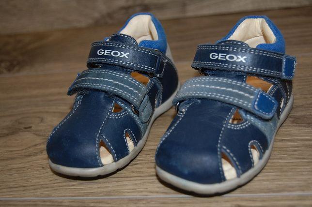 Сандали на мальчика Geox B Kaytan темно синие на липучках 20 размер