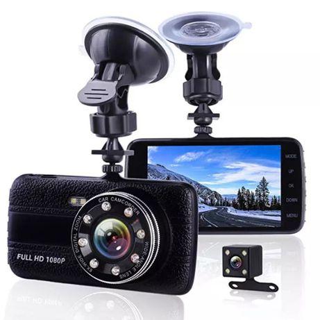 Rejestrator samochodowy wideo Full HD z kamerą cofania; super jakość