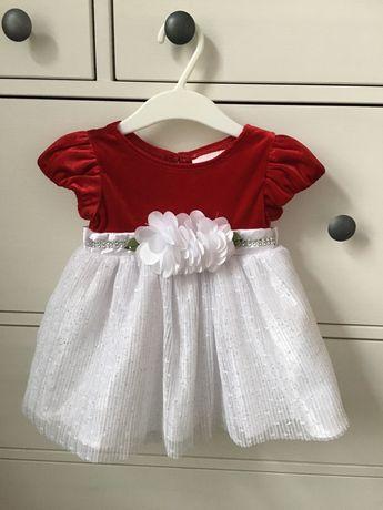 Sukienka dla dziewczynki święta świąteczna r.74