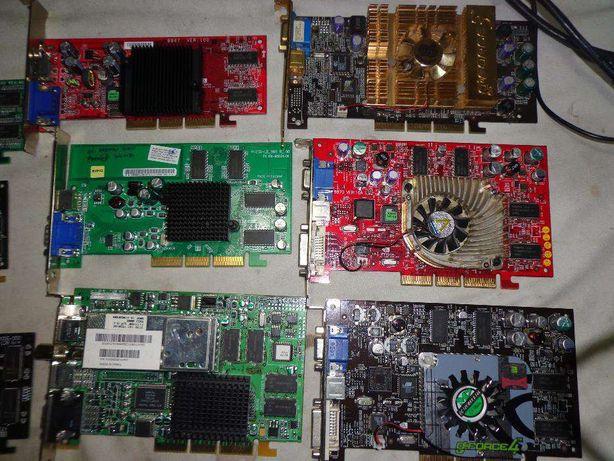 Lote de placas de graficas,som e rede,tv,usb