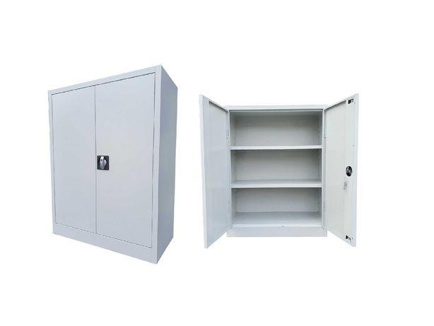 Używane szafy metalowe niskie 100x80x38 cm na akta do warsztatu