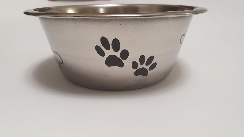 Миска тарелка для собак животных котов нержавсталь