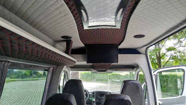 Zabudowa busa na Osobowy,montaż siedzeń-homologacja