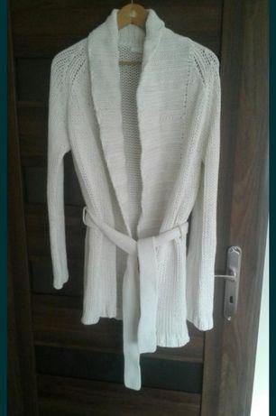 Piękny sweter HM biały, ecru, kremowy XL