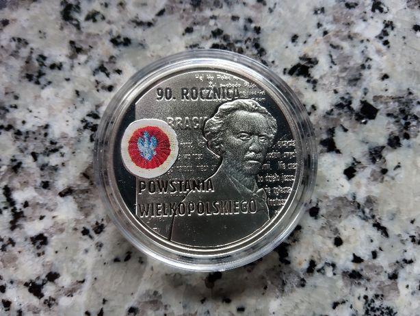Srebrna moneta - 10zł 2008r. 90.rocznica Powstania Wielkopolskiego