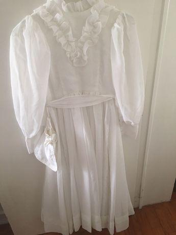 Vestido de comunhão vintage