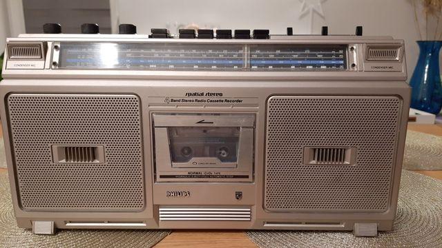 Radiomagnetofon Philips D-8214 Klasyk Retro PRL