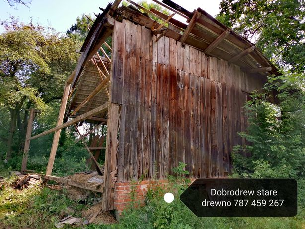 Rozbiórki rozbiórka stodoły stodola stare drewno deski belki ciosane