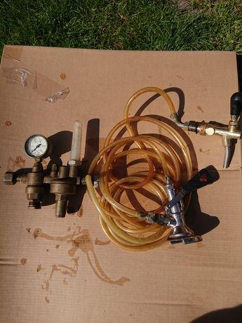 Kran/reduktor/zawór/głowica do nalewania piwa-zestaw