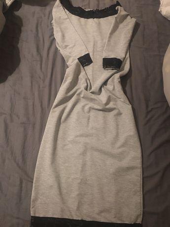 Sukienka szara midi