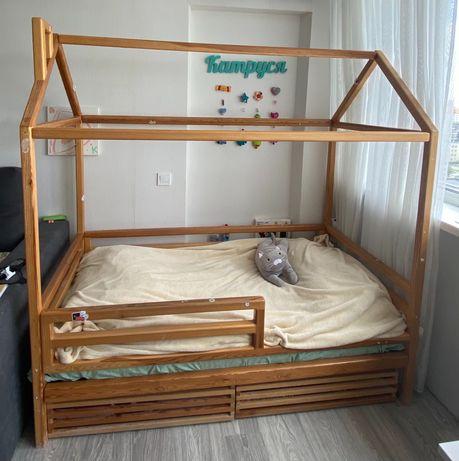 Детская кровать-домик+матрас