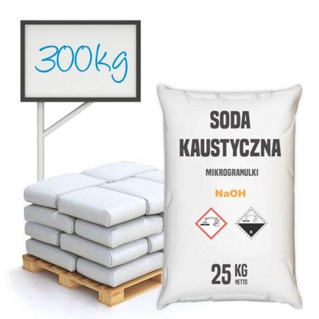Soda kaustyczna mikrogranulki półpaleta 300 kg - wysyłka kurierem